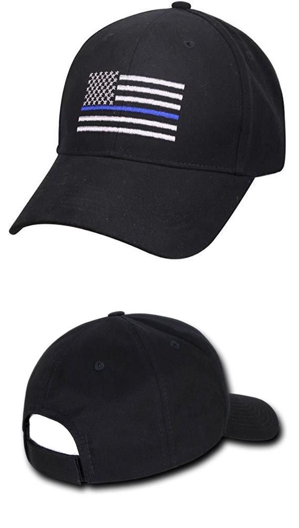 d65613d40 Thin Blue Line Embroidered US Flag Low Profile Cap in 2019 | Police ...