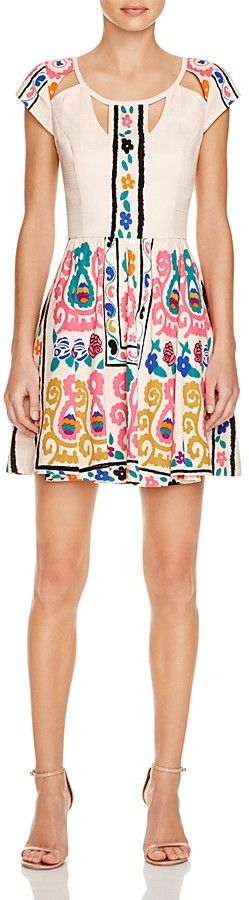 Tracy Reese Cutout Embroidered Dress