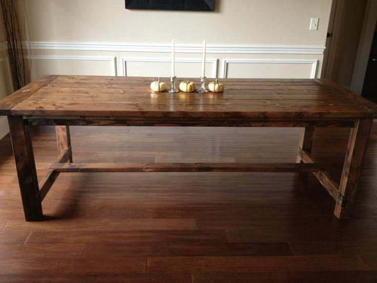 Dining room table plans free farmhouse diningroom table for Dining room table 2x4