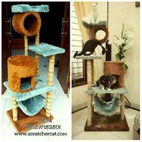 mainan kucing/cat scratcher/cat condo/garukan kucing