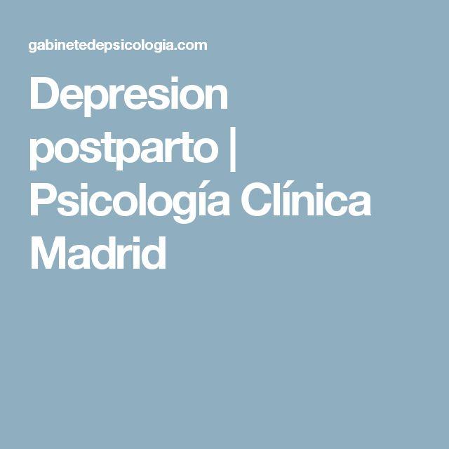 Depresion postparto | Psicología Clínica Madrid