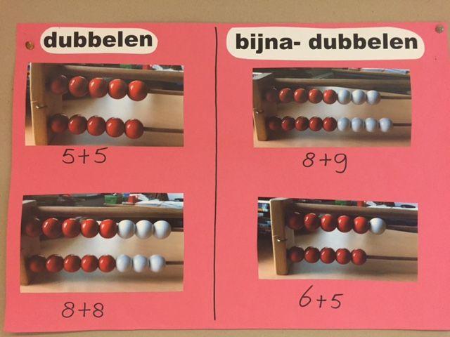 gezien in groep 3. visualisatie va dubbelen en bijna dubbelen.