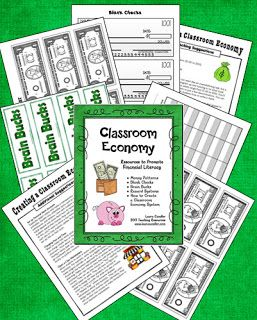 Corkboard Connections: Classroom Economy Pack Freebie - Ideas for implementing a classroom economy system in your classroom - newly updated!
