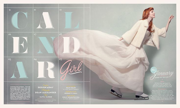 editorial spreads for the Winter / Spring 2012 cover story of Washingtonian's Bride & Groom issue