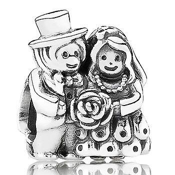 BEAD PANDORA STERLING SILVER WEDDING COUPLE - Jons Family Jewellers