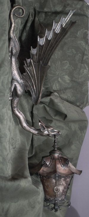 Bronze, Copper and Mica Dragon Sconce and Wall light bracket. Circa 1890
