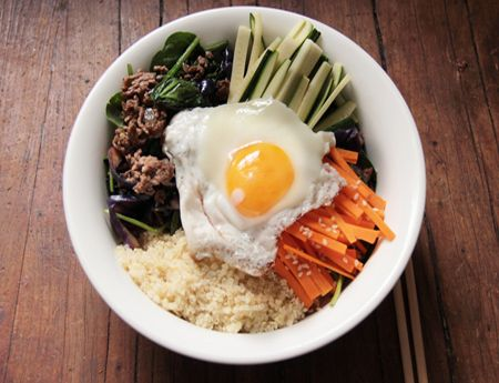 This quinoa bibimbap is a delicious reader recipe that puts a grain-free twist on the classic Korean dish.