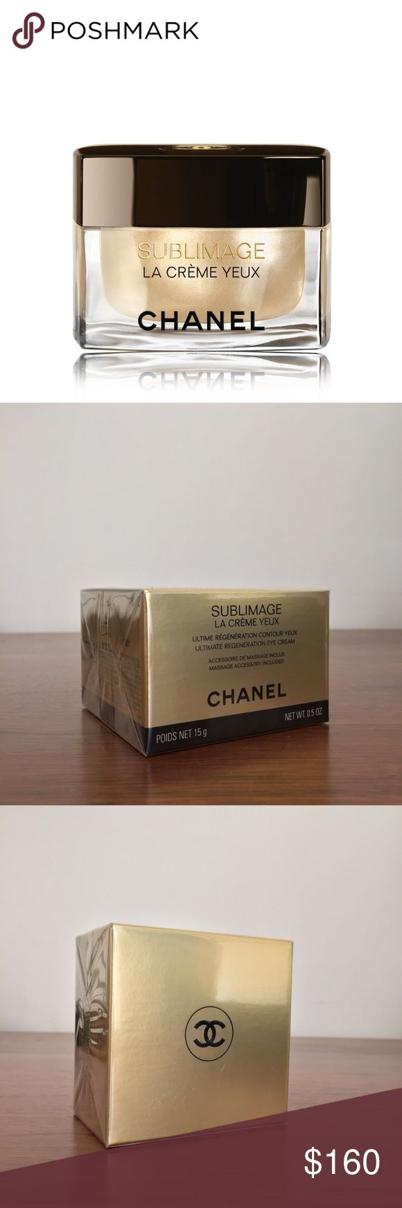 CHANEL Sublimage La Creme Yeux 0.5oz NEW CHANEL Sublimage La Crème Yeux. This is a rich, velvety cream provides complete anti-aging care for the delicate eye contour. This is a great eye cream to used as a preventative measure once the first signs of aging appear. NEW IN BOX CHANEL Makeup