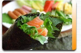 Meals. Temaki sushi is good cooking for family gathering or home party for the easier preparation.  I enjoy the variation.  Mostly fish meat used.
