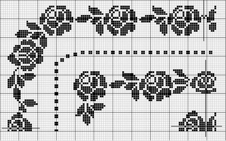Corner / border cross stitch