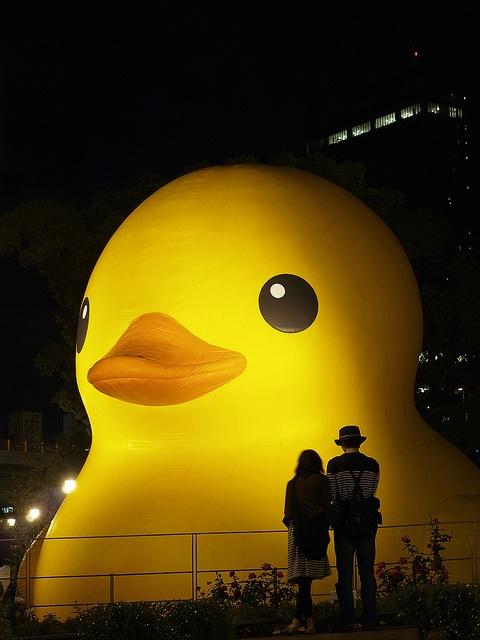 Florentijn Hofman's Rubber duck in Osaka, Japan