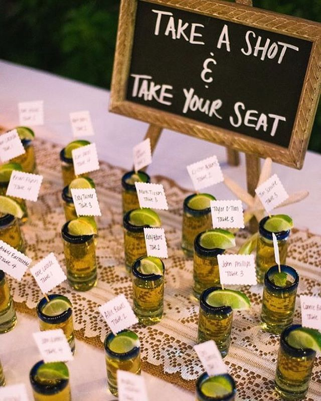 Perfect #escortcards for a Mexican destination wedding!  Photo: @markroxtioxon  #destination #destinationwedding #mexico #tequila #escort #cards #seatingchart #seating #weddingseats #takeashot #weddingsign #fun #weddinginspiration #bridalinspiration #weddingplanning #planningbride #cocktail #bar #drink #shots #tequilashots