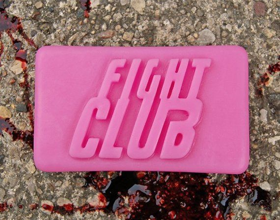 Fight Club soap; Physical object representing the book.