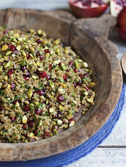 Freekeh is dried green wheat. It is very common in the Middle East and North Africa, and is used in the same way as bulgur, couscous or pearled spelt