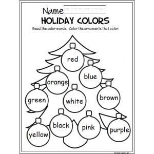 Practice colors with this holiday tree!: