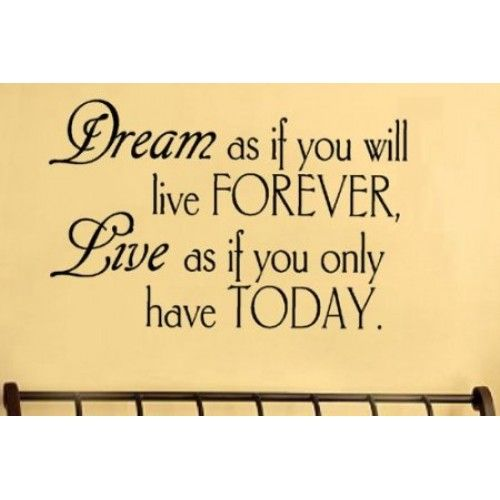 dream as if you vinyl wall lettering words sticky art home decor quotes stick - Home Decor Quotes