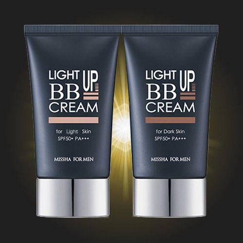 Our latest BB cream.  http://www.mensmake-up.co.uk/missha-for-men-wake-up-bb-cream.html