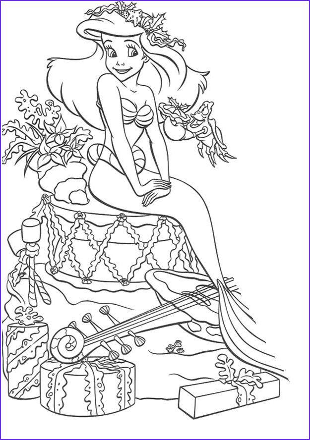45 New Image Of Disney Princess Adult Coloring Book Mermaid