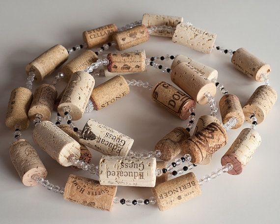 SALE Wine Cork Garland Wine Cork Crafts  by MaxplanationPhotos, $12.75