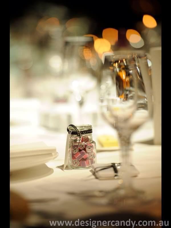 Sarah & Michael Designer candy personalised wedding bomboniere favors elegant cute small pretty modern