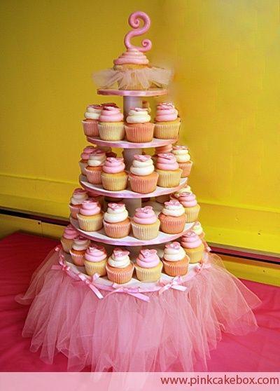 princess/ballerina party cake table