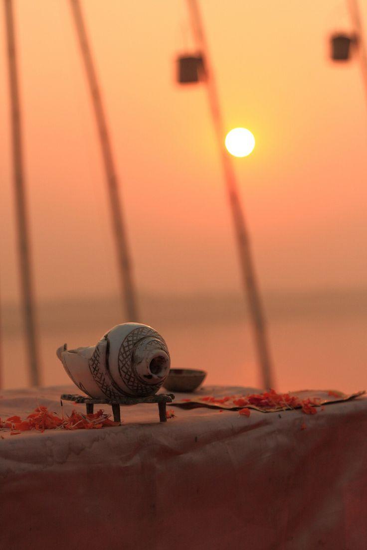 A beautiful Sunrise at Varanasi, India.   #varanasi, #india, #ganga, #sunrise, #incredibleindia, #ghats