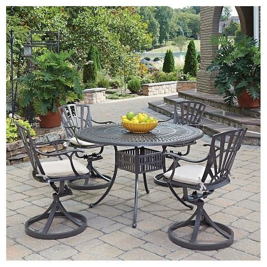 Delightful Home Styles Largo 5 Piece Patio Dining Set With Cushions   Taupe (Brown). Deck  FurniturePatio ...