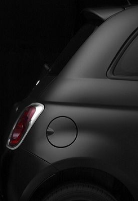 Matte black even makes this Fiat 500 Abarth look great.