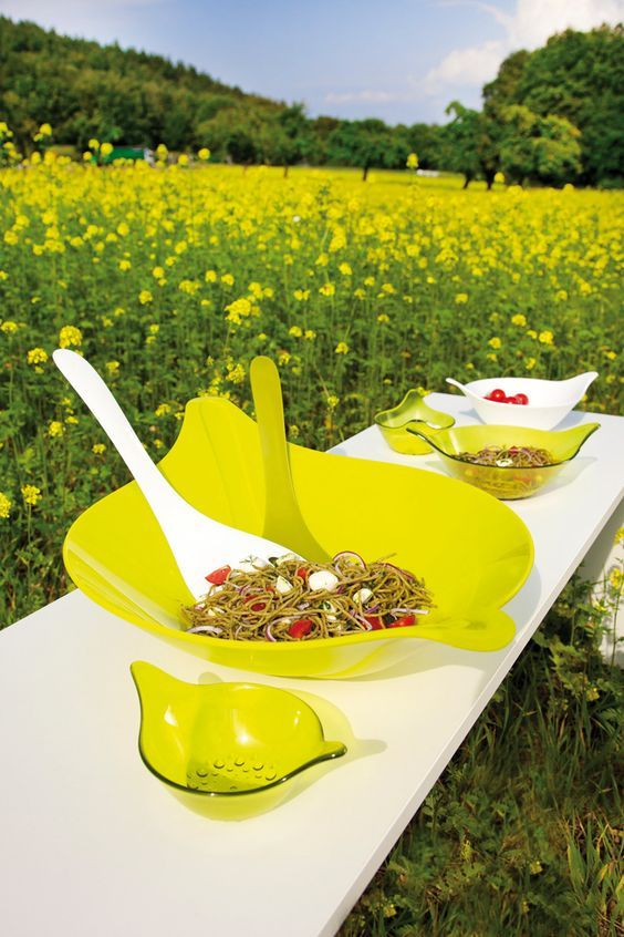 Say yes to colorful serveware from Koziol!