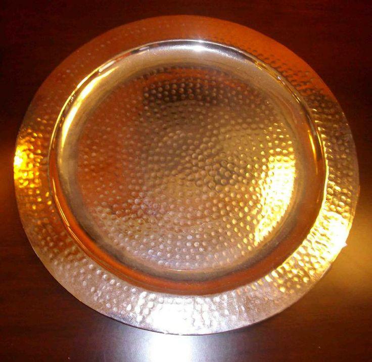 Vassoio marocchino (Artigianato Marocco, Metalli, teiere, ciotole) di Artigianato Vulcano, eCommerce specializzato nella vendita di articoli etnici, marocchini e orientali.