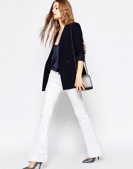 Tre look autunnali con i jeans a zampa