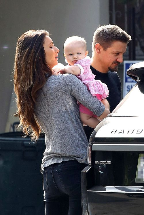 *EXCLUSIVE* Jeremy Renner and Sonni Pacheco step out with Baby Ava as a Family