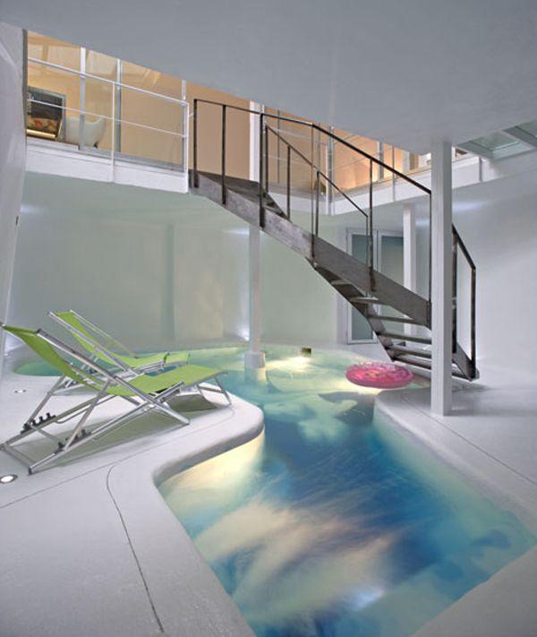 Indoor pool in casa rota house homemydesign pinterest