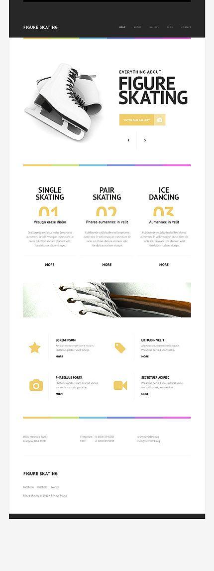 ice skaing shop web layouts - Szukaj w Google