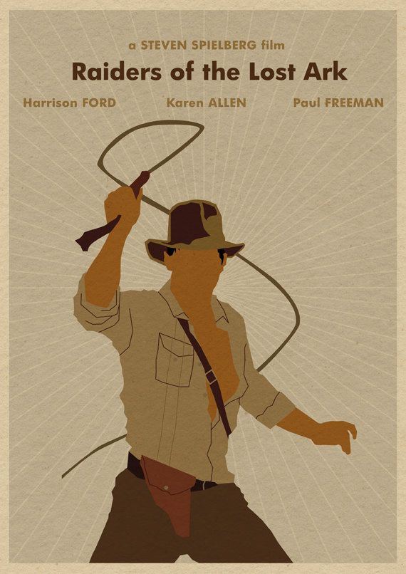 Indiana Jones and the Raiders of the Lost Ark 16x12 Poster Print. , via Etsy.