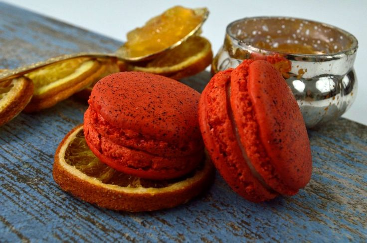 Bitter Orange Marmalade Macarons, handmade in London and Gluten Free.  Seasonal range winter 2015, #GanacheMacaron #glutenfree #handmade #macarons #macaroons #HolidayMacarons #HolidayFlavours #ChristmasMacarons #WinterFlavours