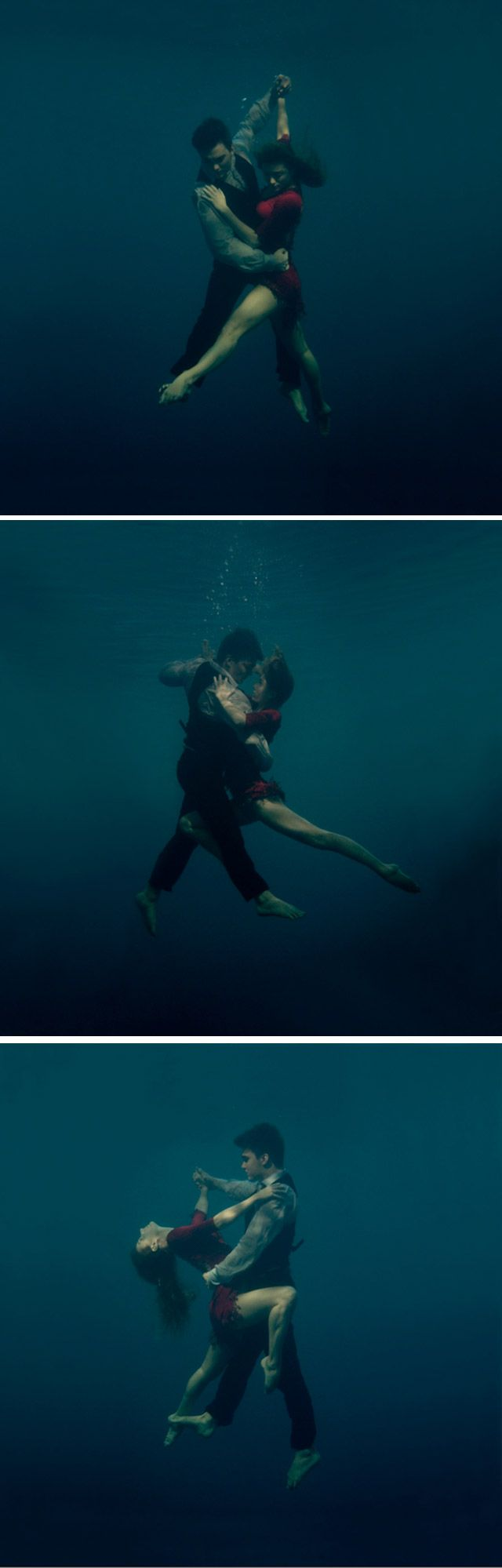 Impressionante série Underwater Tango (; by:Katerina Bodrunova
