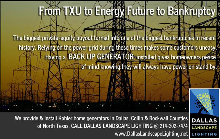 Dallas Landscape Lighting installs back up / stand by power generators in Dallas, Collin & Rockwall counties of North Texas - call 214-202-7474 for FREE ESTIMATE.