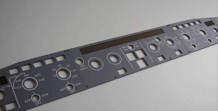 A320 glareshield auto pilot panels flight simulation