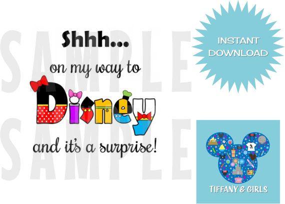 PRINTABLE Disney Surprise Trip Kids T Shirt by TiffanyandGirls