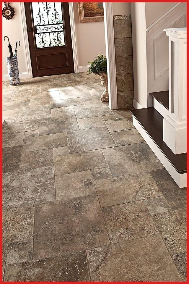When It Comes To Home Entryways Practicality Is Key Consider A Stone Look Floor Entryways Floor Home K In 2020 Entryway Flooring Foyer Flooring House Flooring