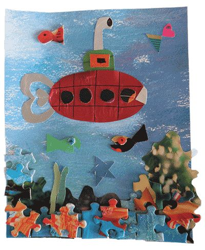 Secrets Of The Sea: Underwater Collages | Arts & Activities