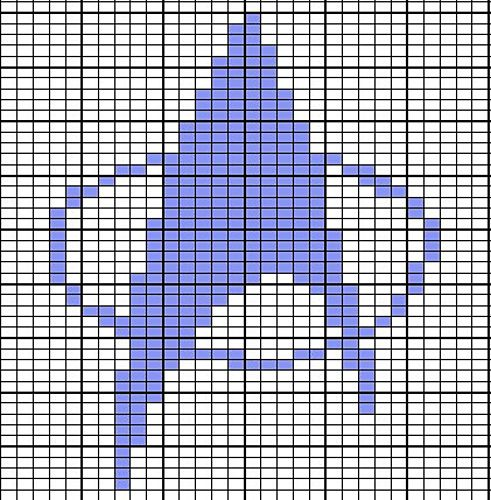 """From the blog """"Off the Hook Astronomy,"""" this is a free pattern and instructions for a knitted Star Trek pot holder, but it can easily be used for a quilt pattern. Make it so!"""