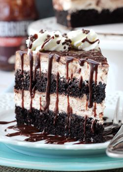 Hot Fudge Swirl Ice Cream Cake !!