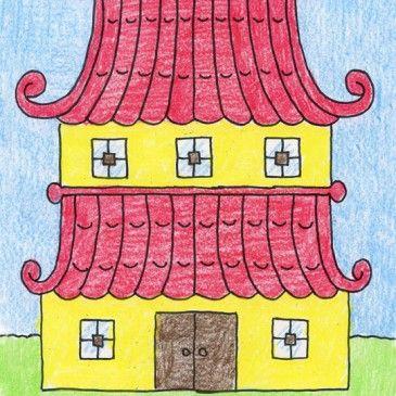 Draw an Asian House