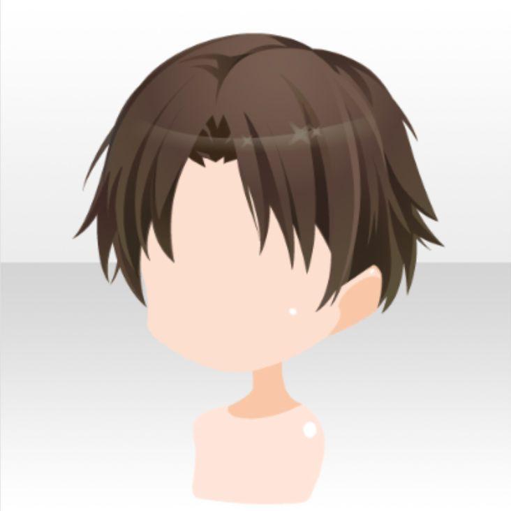 Hairstyle Cancer Short Hair Ver A Brown Jpg Anime Boy Hair Chibi Hair Anime Hair