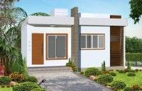 fachada de casa innovadora y moderna