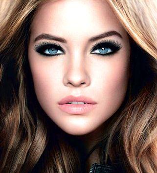 Full face makeup - smokey eyes