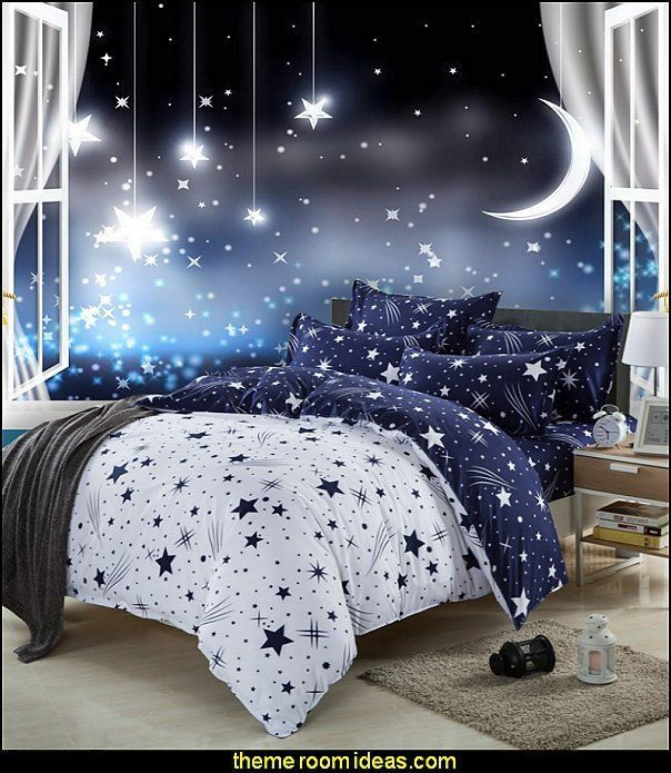 15 Incredible Space Themed Bedroom Ideas Galaxy Bedroom Moon Stars Bedroom Space Themed Bedroom