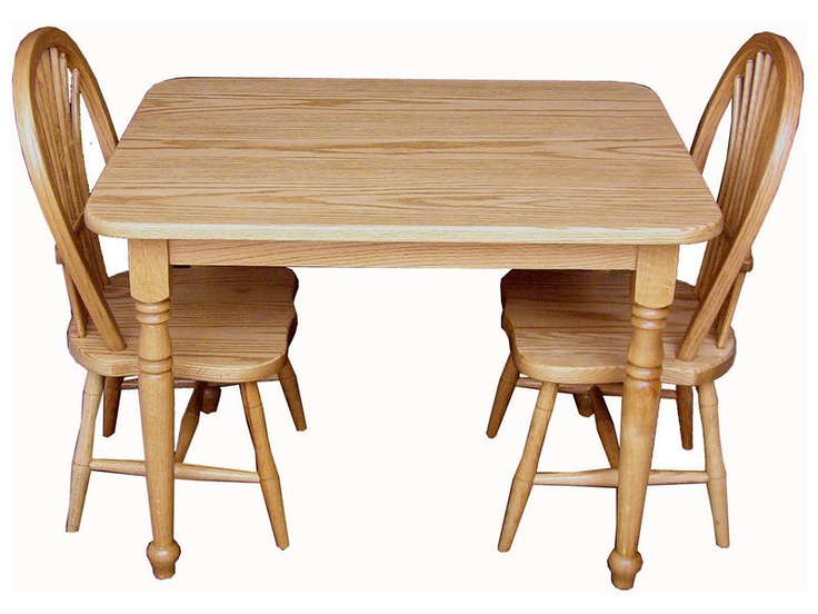 Childs Solid Oak Table and 2 Chair Set by QuiteACollective on Etsy, $299.00